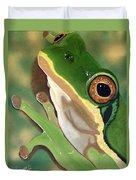 Tree Frog Eyes Duvet Cover