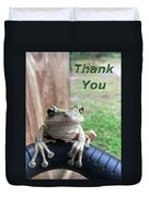 Tree Frog Thank You Duvet Cover