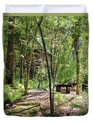 Tree House In The Woods Duvet Cover