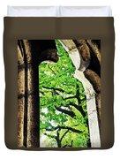 Tree In A Medieval Frame Duvet Cover