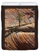 Tree In Flowing Rock Duvet Cover