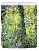 Tree In Garden Duvet Cover
