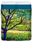 Tree In Spring Duvet Cover