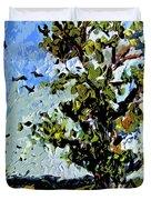Tree In Summer Sun Mixed Media Duvet Cover