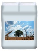 Tree In The Field Duvet Cover