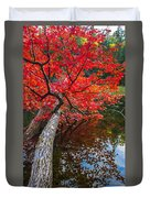 Tree In The Pond Duvet Cover