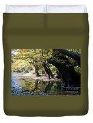 Tree In The River Duvet Cover