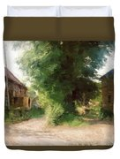 Tree In The Road Duvet Cover