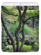 Tree Japanese Garden Duvet Cover