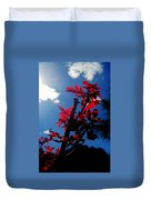 Tree Leaves Red 061814a Duvet Cover