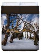 Tree Life In Winter Duvet Cover