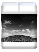 Tree Line In Winter Duvet Cover