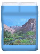 Tree Line Oasis  Duvet Cover