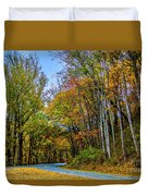 Tree Lined Road Duvet Cover