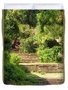 Tree Lined Steps Duvet Cover