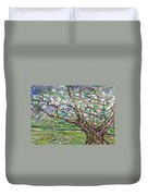 Tree, Loom Of Light And Life Duvet Cover