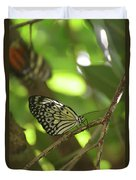 Tree Nymph Butterfly Sitting On A Tree Branch Duvet Cover