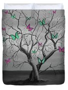 Tree Of Butterflies  Duvet Cover