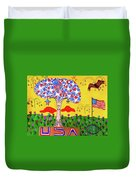 Tree Of Freedom And Glory Duvet Cover