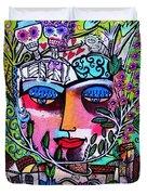 Tree Of Life Face Duvet Cover