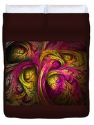 Tree Of Life In Pink And Yellow Duvet Cover