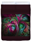 Tree Of Life-pink And Blue Duvet Cover