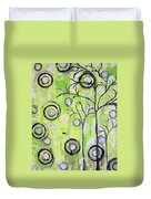 Tree Of Life Spring Abstract Tree Painting  Duvet Cover