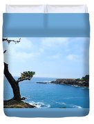 Tree On A Coastline Duvet Cover