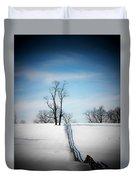 Tree On A Hill Duvet Cover by Joyce Kimble Smith