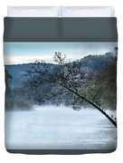 Tree Over Gasconade River Duvet Cover