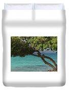 Tree Over Sapphire Beach Duvet Cover