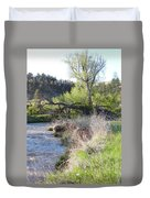 Tree Over The River Duvet Cover