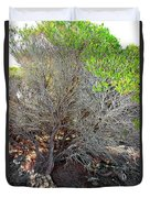 Tree Rock And Life Duvet Cover