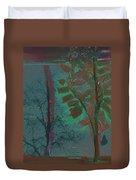 Tree Shadows At Midnight Duvet Cover