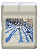 Tree Shadows Morzine Duvet Cover