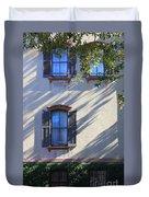 Tree Shadows On Savannah House Duvet Cover