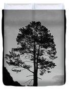 Tree Silhouette In The Dark Duvet Cover