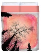 Tree Silhouettes I Duvet Cover