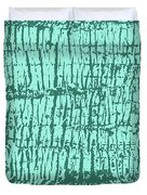 Tree Texture Turquoise Duvet Cover