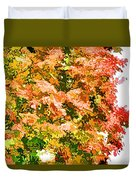 Tree With Autumn Leaves Duvet Cover