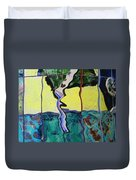 Tree With Yellow Sky Duvet Cover