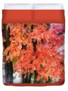 Trees Aflame Duvet Cover