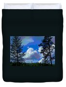 Trees And A Cloud For Crying Out Loud Duvet Cover