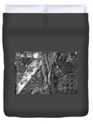 Trees And Brick Crosses Duvet Cover