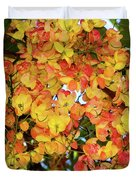 Trees And Flowers In Hawaii Duvet Cover