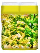 Trees And Leaves 1 Duvet Cover