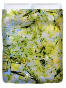 Trees And Leaves Duvet Cover