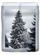 Trees And Snow Duvet Cover
