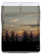 trees and West Duvet Cover