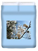 Trees Art Prints White Magnolia Flowers Baslee Troutman Duvet Cover